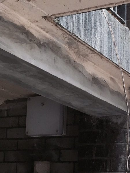 CONCRETE REPAIR TO Lintel Repair