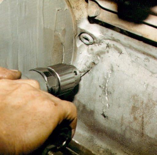 Epoxy repair to engine block