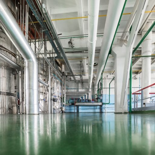 chemical floor protected with chemical resistant floor coating